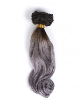 Black to Silver Ombre Clip In Hair Extensions CD007