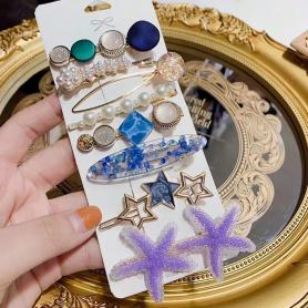 8 PCS STARFISH HAIR CLIP HB021