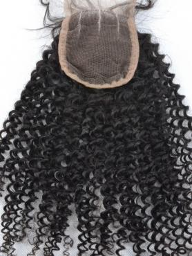 Kinky Curly 100% Virgin Remy Clip In Hair Closure CLD003