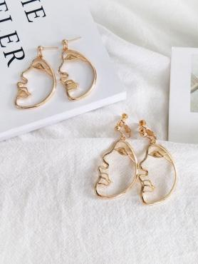 Abstract Face Earrings F084