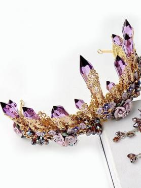 Baroque Amethyst Crown A007