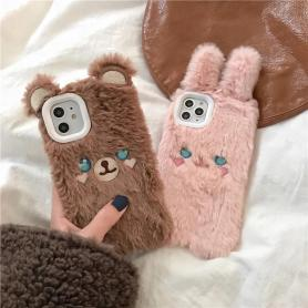 FURRY RABBIT SHOCKPROOF PROTECTIVE DESIGNER IPHONE CASE PC061