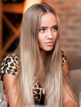 Blonde Ombre Straight Full Lace Human Hair Wig FLW011