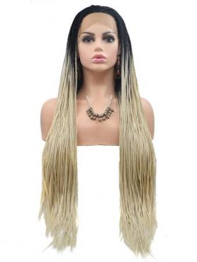 BLONDE OMBRE LONG STRAIGHT SYNTHETIC LACE FRONT WIG SNY237