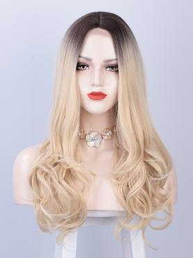 BLONDE OMBRE LONG WAVY MIDDLE PART LACE WIG MPL015