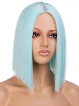 LIGHT BLUE SHOULDER LENGTH BOB SYNTHETIC LACE FRONT WIG SNY170