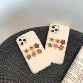 FURRY FLORAL SHOCKPROOF PROTECTIVE DESIGNER IPHONE CASE PC012