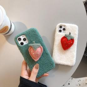 FURRY STRAWBERRY SHOCKPROOF PROTECTIVE DESIGNER IPHONE CASE PC030
