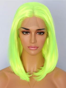 NEON GREEN STRAIGHT SHOULDER LENGTH SYNTHETIC LACE FRONT WIG SNY142