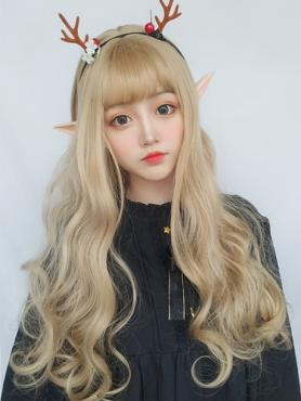 BLONDE FLUFFY WAVY SYNTHETIC WEFTED CAP WIG LG102