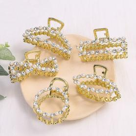 5 PCS METALIC HAIR CLIPS DC010