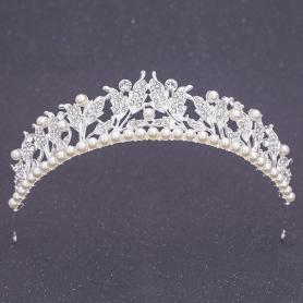 Silver Bridal Crown AC107