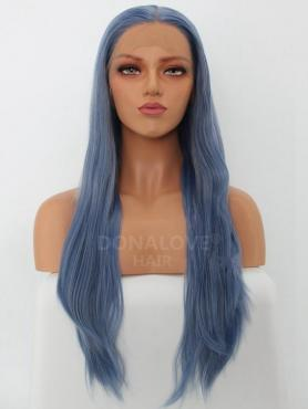 MIXED HAZE BLUE SYNTHETIC LACE FRONT WIG SNY244