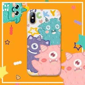THREE MONSTERS SHOCKPROOF PROTECTIVE DESIGNER IPHONE CASE PC084