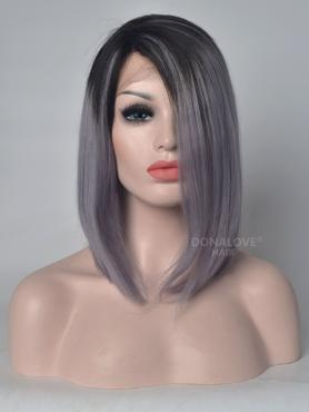 New Arrival Black to Gray Lace Front Human Hair Wig HH042