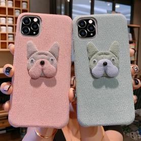 FURRY BULLDOG SHOCKPROOF PROTECTIVE DESIGNER IPHONE CASE PC029