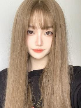 BROWN LONG STRAIGHT SYNTHETIC WEFTED CAP WIG LG348