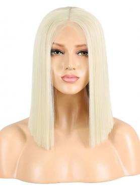 WHITE BLONDE BOB SYNTHETIC LACE FRONT WIG SNY166