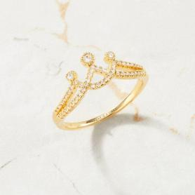ENGRAVED CROWN RING A028