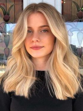 Blonde Ombre Wavy Full Lace Human Hair Wig FLW020