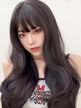 BLACK LONG WAVY SYNTHETIC WEFTED CAP WIG LG344