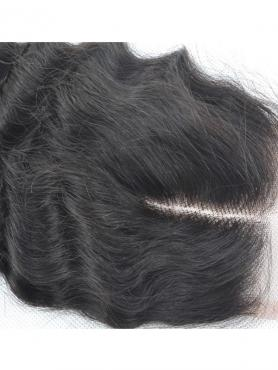 Water wave 100% Virgin Remy Clip In Hair Closure CLD005