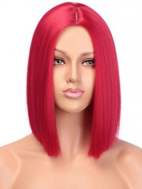 Red Bob Straight Synthetic Lace Front Wig SNY169