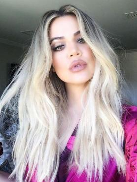 Celebrity Black to Blonde Long Human Hair Lace Front Wig HH074