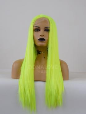 NEON GREEN LONG STRAIGHT SYNTHETIC LACE FRONT WIG SNY287