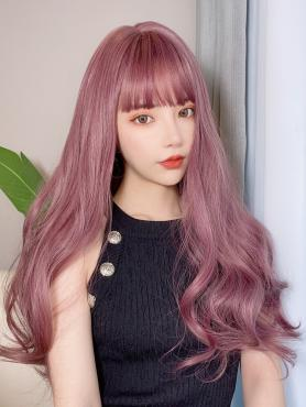 GRADUAL BALLET PURPLE LONG WAVY SYNTHETIC WEFTED CAP WIG LG304
