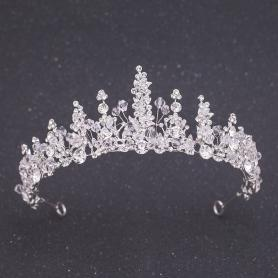 Silver Bridal Crown AC109