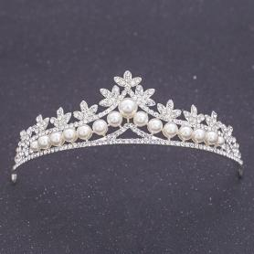 Silver Bridal Crown AC108