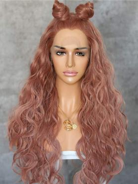 NEW PEACH BEACH WAVY SYNTHETIC LACE FRONT WIG SNY149