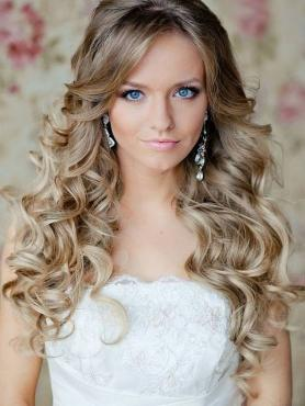 Blonde Long wavy Lace Front Human Hair Wig HH003