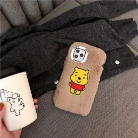FURRY WINNIE THE POOH SHOCKPROOF PROTECTIVE DESIGNER IPHONE CASE PC055