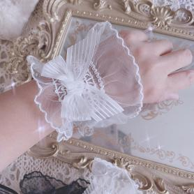 ONE PAIR OF ANGELIC LACE LOLITA WRISTBAND LA025