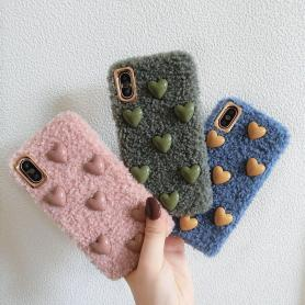 FURRY HEART SHOCKPROOF PROTECTIVE DESIGNER IPHONE CASE PC016