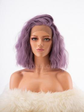 LAVENDER SLIGHT BEACH WAVY SYNTHETIC LACE FRONT WIG SNY243