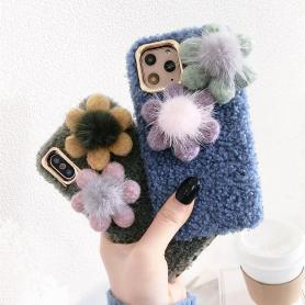 FURRY FLORAL SHOCKPROOF PROTECTIVE DESIGNER IPHONE CASE PC056