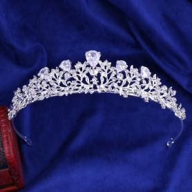 Silver Bridal Crown AC115