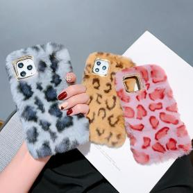 FURRY LEOPARD SHOCKPROOF PROTECTIVE DESIGNER IPHONE CASE PC018