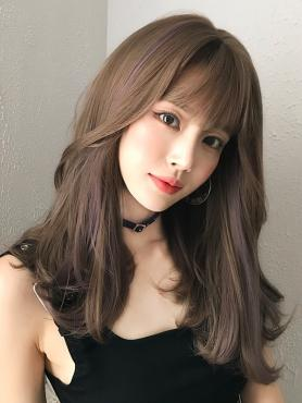 MIXED COLOR MEDIUM LENGTH STRAIGHT SYNTHETIC WEFTED CAP WIG LG364