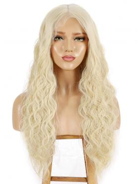 BLONDE LONG CURLY LONG SYNTHETIC LACE FRONT WIG SNY091