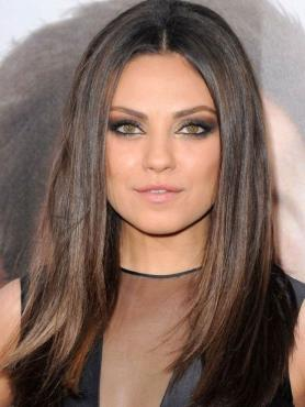 Celebrity Brown Ombre Straight Full Lace Human Hair Wig FLW022