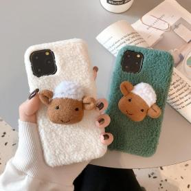 FURRY SHEEP SHOCKPROOF PROTECTIVE DESIGNER IPHONE CASE PC010