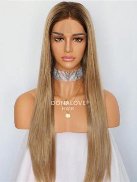 BLONDE OMBRE LONG STRAIGHT SYNTHETIC LACE FRONT WIG SNY225