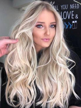 OMBRE BLONDE WAVY HUMAN HAIR FULL LACE WIGS FLW041
