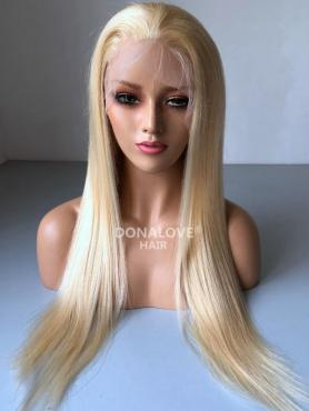 BLONDE LONG STRAIGHT SYNTHETIC LACE FRONT WIG SNY226