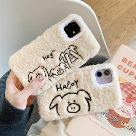 FURRY PIG SHOCKPROOF PROTECTIVE DESIGNER IPHONE CASE PC013