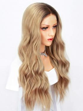 BROWN OMBRE LONG WAVY SYNTHETIC LACE FRONT WIG SNY137